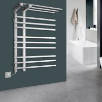 Quality 9 Bars Practical shelf stainless steel wall mounted Electric heated towel warmer for sale