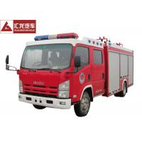 China Isuzu Fire Fighting Vehicle , 3.5t Foam Fire Rescue Vehicles 20 L / S Flow Capacity on sale