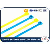 China Customized Nylon Cable Ties / colored cable ties plastic For power indutry wholesale