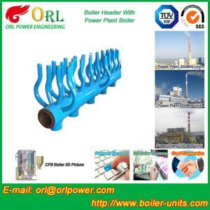 China SA213T22 Furnace Water Header / Steam Boiler Header TUV Certification wholesale