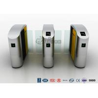 China Waist Height RFID Turnstile Security Systems Automatic Flap Barrier Turn Style Door wholesale
