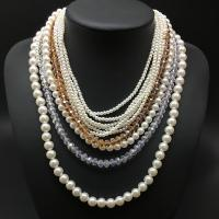 China New Collares multilayer pearl  Necklace Fashion Statement Necklace for Women wholesale
