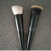 Quality Concave Hair Makeup Foundation Brush White Hair Color Oval Hair Shape for sale