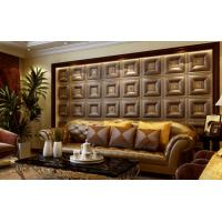 China Customized Auditorium Deco Material 3D Wall Board / Leather 3D Wall Paper Light weight wholesale
