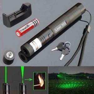 China Military Burning Beam Green Laser Pointer For Presentation Power Saving  303 wholesale