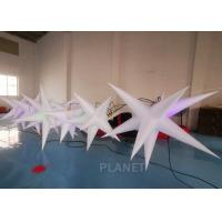 China Oxford Cloth LED Inflatable Star With Color Light For Event Decoration wholesale