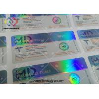 China Custom Design Adhesive Medication Label Stickers Hologram Vial Labels Steroids Packing wholesale