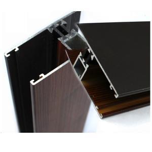 China Industrial Wood Finish Aluminium Profiles For Polycarbonate Sheet OEM / ODM wholesale