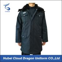 Winter Fur Collar Long Law Enforcement Outerwear For Security Guard / Police
