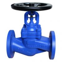 China DIN 3356 Standard Bellow Sealed Globe Valve.BB,DN150,RF flanged to pn16 wholesale