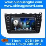 China Ouchuangbo audio DVD gps Mazda 6 Ruiyi 2008-2012 balck USB  aux SD MP3 free 2015 Chile map wholesale