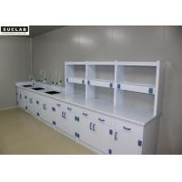 China PP Drawer Science Lab Tables With Sinks , Adjustable Lab Bench Epoxy Resin Countertops wholesale