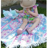 China Factory wholesale Kids Round Beach Towel with Tassels Children roundie towel Kids beach towel on sale