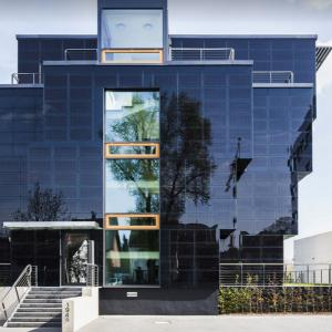 China Solar glass photovoltaic glass façades PV Glass Supply Photovoltaic Curtain Wall wholesale