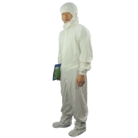China Dust Proof 100D 98% Cotton Antistatic Coveralls ESD Smock wholesale