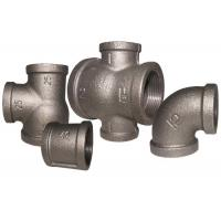 China Female Threaded Malleable Cast Iron Pipe Fittings Reducing Pipe Tee ANSI / BS Standard wholesale