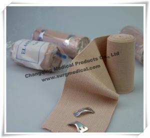 China High Elasticity Spandex Elastic Cotton Wrap Bandage Flesh Color Medical wholesale