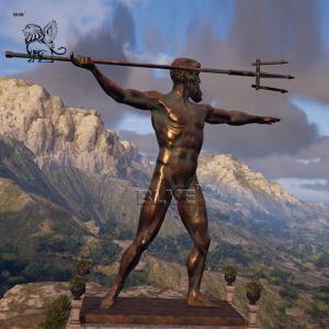 China BLVE Copper Poseidon Statue Bronze Neptune Sculpture Famous Greek Garden Decoration wholesale