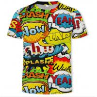 China Summer Short Sublimation On Colored Shirts , All Over Sublimation Shirts wholesale