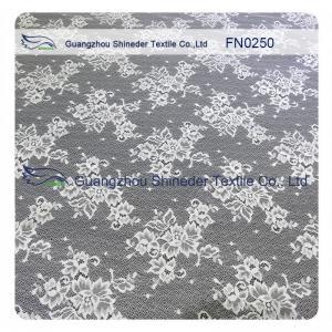 China ±150CM Width Lovely Nylon Bridal Lace Fabrics Women Garments Lace Trim Fabric wholesale