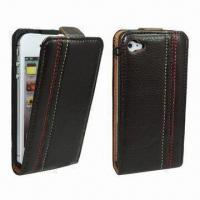 China High-quality Genuine Leather Cases for iPhone 4/4S, Come in Various Colors, 100pcs MOQ Only wholesale
