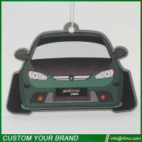 China Customized design car shape 2mm cotton paper air freshener for car home office wholesale