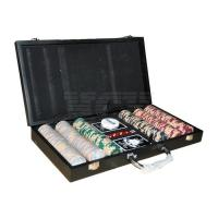 China 300 PC Poker Chip Set, in Black Wooden Case (0109-0544) wholesale