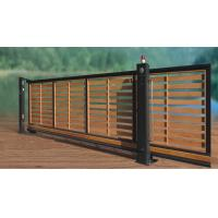 China Residential Wooden Cladded Motorized Automatic Cantilever slide Gate wholesale
