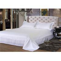 China King Size Hotel Bed Linen 330T Satin White And 100% Cotton Personalized wholesale