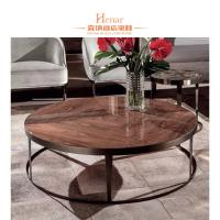 Buy cheap Mid Century Vintage Marble Top Stainless Steel European Coffee Table For Living Room from wholesalers