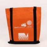 China Polyester Fabric Foldable Reusable Shopping Bags Custom Logo Printed wholesale