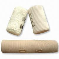 China Elastic Bandage for Medical and Daily Use, Available in Bleached White wholesale