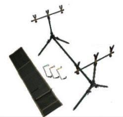 China Iron standard powder coated Carp Fishing Rod Pod with 2 Telescopic iron buzzer bars wholesale