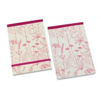 China Beautiful flower image soft paper cover A4, A4+, A5, A5+, A6 Personalised Notepad wholesale