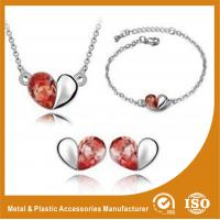 China Heart Shape Alloy Jewelry Sets Silver Plated Jewelry Sets For Ladies wholesale
