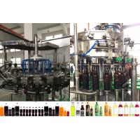 China Rotary Washing Filling Capping Beer Bottle Filling Machine For Plastic / Glass Bottle wholesale