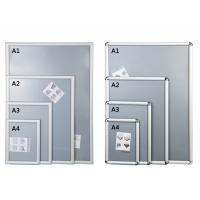 China Silver Shining Wall Mounted Snap Lock Frames With One Picture Capacity wholesale