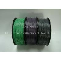 China Custom Color Changing abs and makerbot pla filament 1.75 / 3.0mm Grey to white wholesale