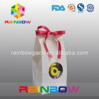 China White Kraft Paper Bag For Candy Packaging With Front Round Window wholesale