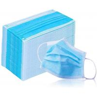 China Breathable 3 Ply Non Woven Face Mask Bfe 95 - 99.9 High Efficient Filtration wholesale