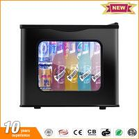 China 20L hotel mini fridge glass door thermoelectric small refrigerator price with lock wholesale