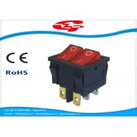 China 6 Pin Double Electrical Rocker Switches With Light Indicator , Electrical On Off Switch 10a 250v wholesale