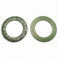 China 1.5-inch Inside O-rings with Zebra Pattern, Made of Zinc Alloy, Available in Different Styles wholesale