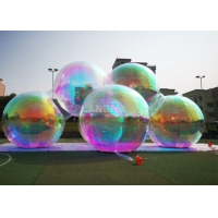 China Multicolor Inflatable Mirror Sphere Balloon For Christmas Decoration wholesale