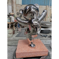 China Abstract Red Panda Sculpture Surface Polishing Bronze Animal Figurines Gifts  Display wholesale