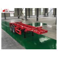 China Leaf Spring Type 40 Ft Low Bed Trailer , 40 Foot Triple Axle Trailer For Truck wholesale