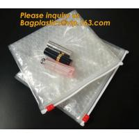 Factory Price Clear Bubble Zipper Bags, Pink Resealable Bubble Bag with Slider