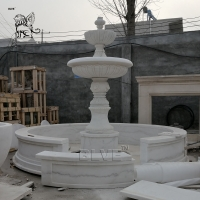 China Marble Water Fountain White Stone Garden Fountains Large Outdoor Decorative wholesale