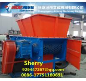 China Famous brand single shaft shredder machine Waste plastic crusher  machine PE PP film crusher shreeder machinery wholesale