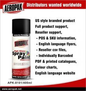 China Yellow Automotive Aerosol Spray Paints / Auto Aerosol Spray Paint For Ceramic wholesale